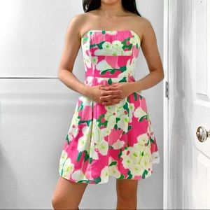 Lily Pulitzer Strapless Floral Dress